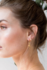 Cross Earrings - 14K GOLD