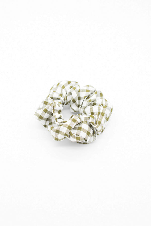 Green Gingham Scrunchie / OUTLET