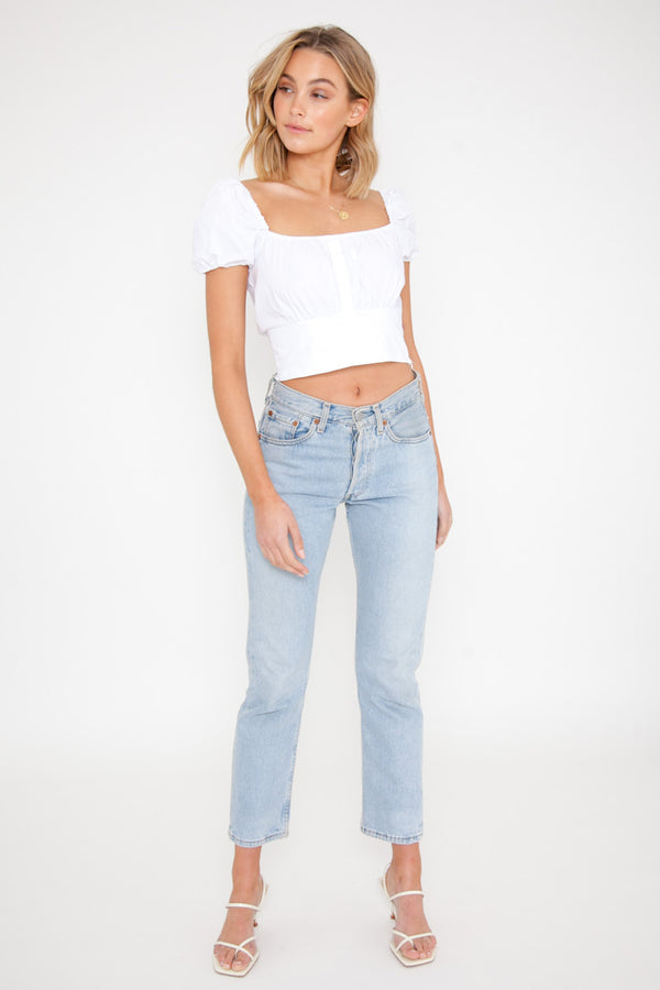 Juliette Top - White / OUTLET