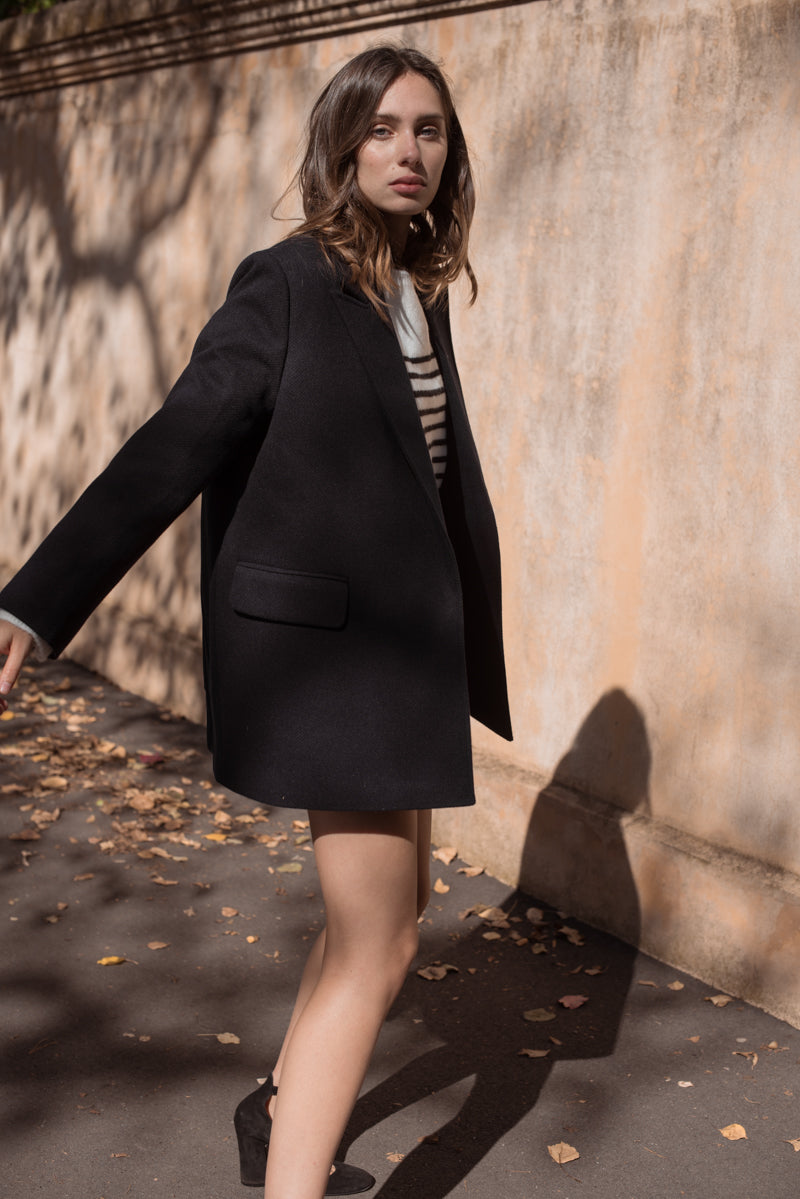 Lola Coat - Navy - Style Addict