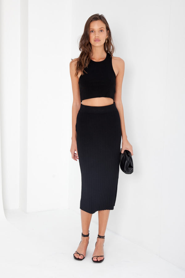 Rowe Knit Skirt - Black