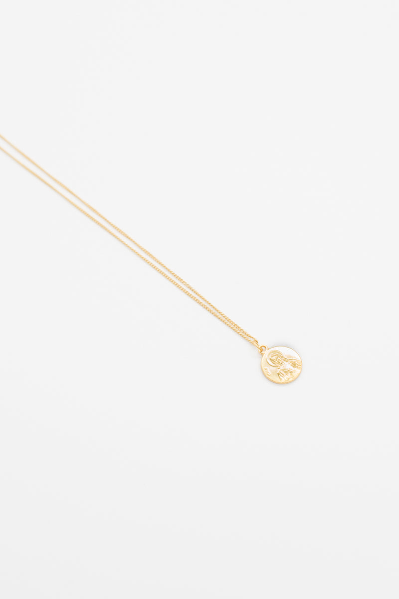 Virgin Coin Necklace - 14K Gold - Style Addict