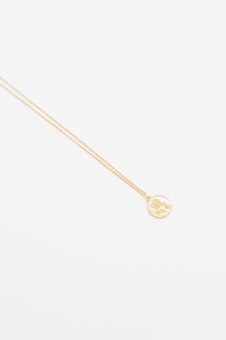 Roman Coin Necklace - 14K Gold