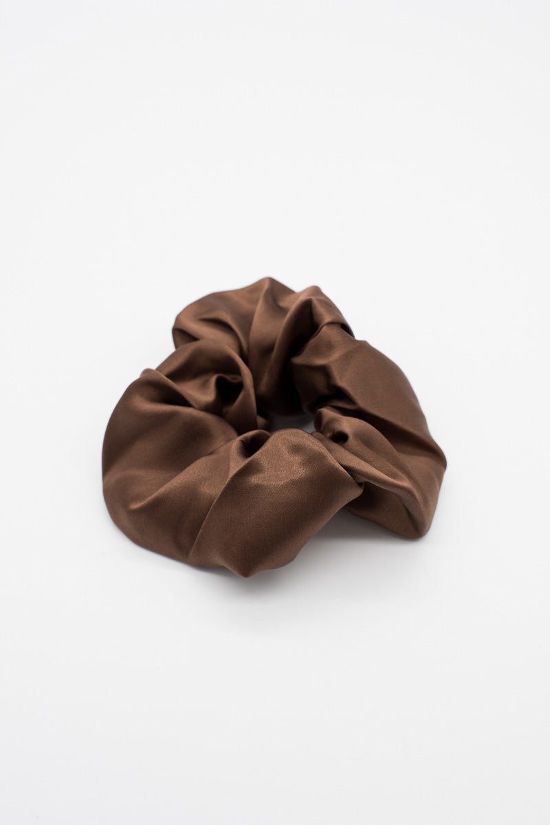 Satin Scrunchie - Brown