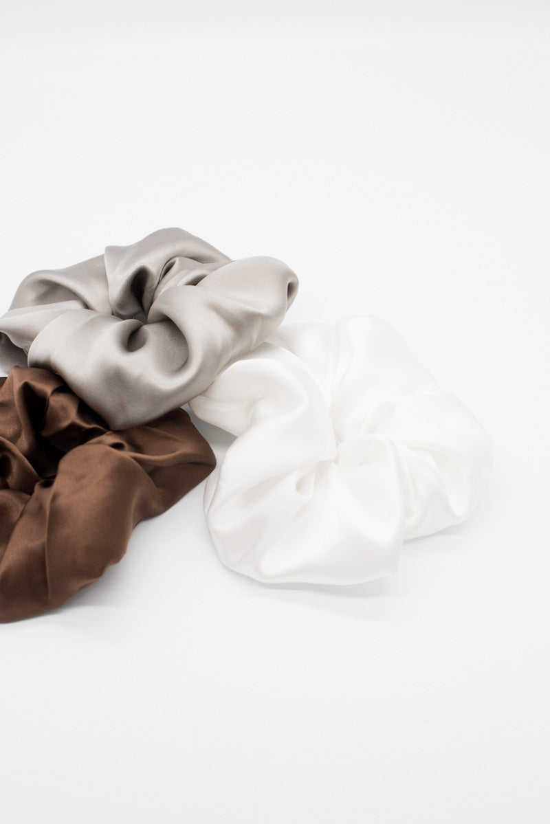 Satin Scrunchie - White