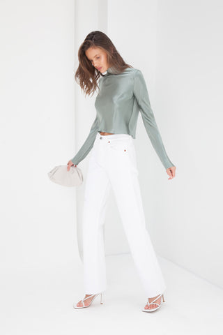 Twist Front Sweater - White