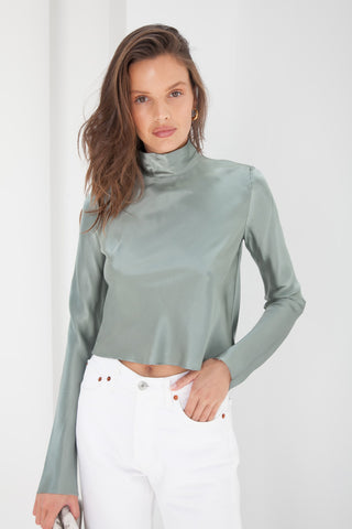 Jessica Turtle Neck Top - Nude