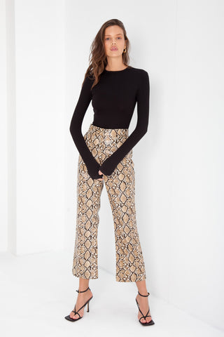 Classic Kick Flare Trousers - Gingham