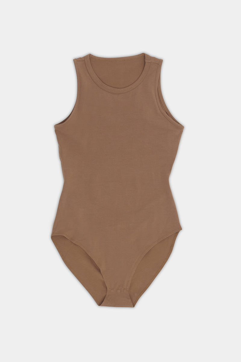 Sade Sleeveless Bodysuit - Chocolate