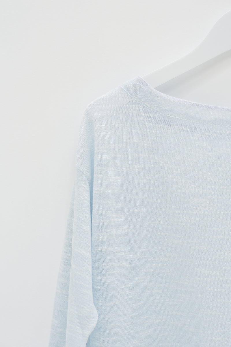 SHEER TOP - LIGHT BLUE / SAMPLE