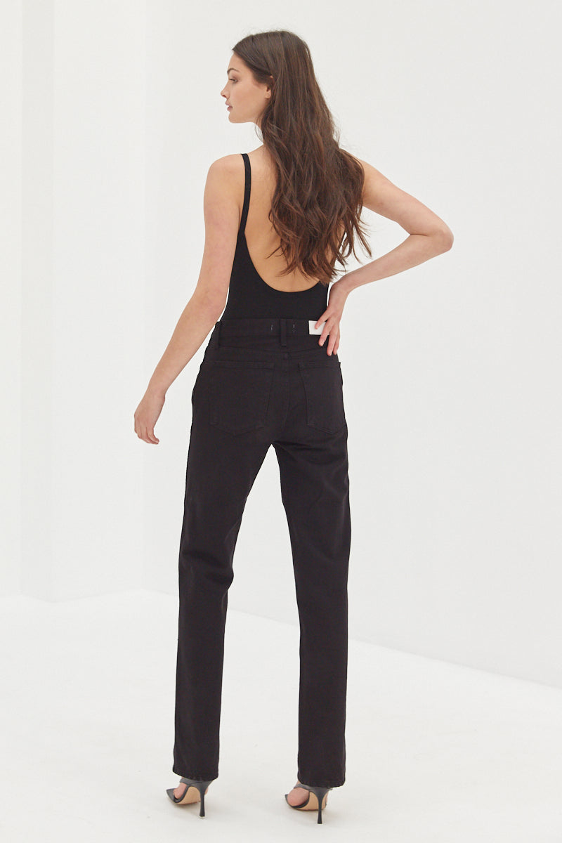 Scoop Back Bodysuit - Black
