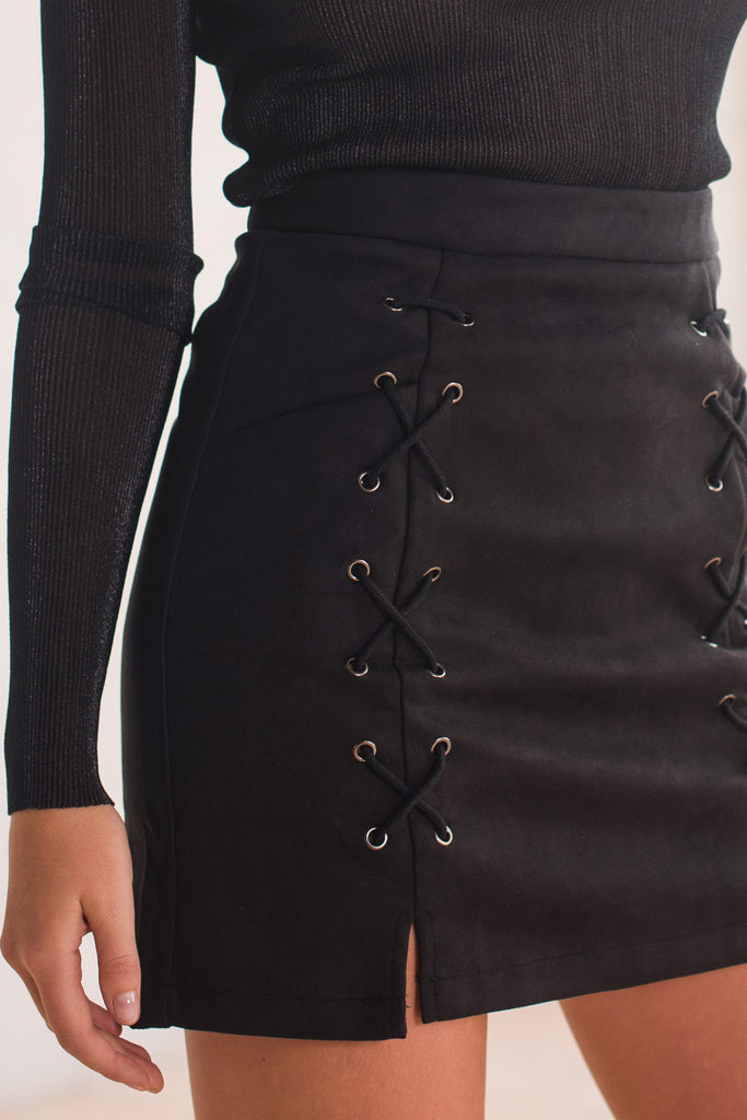 Noughts and Crosses Skirt - Black