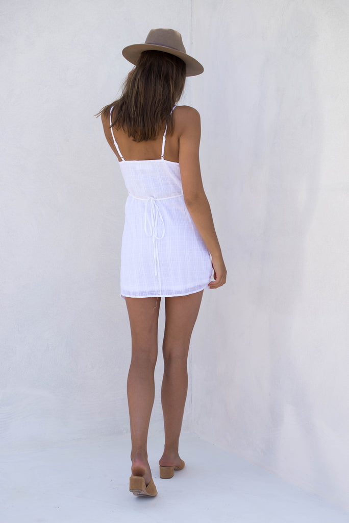 Gigi Wrap Dress - White