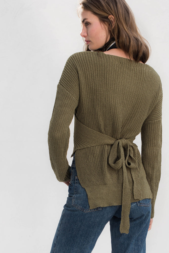 Zahra Knit Top - Khaki