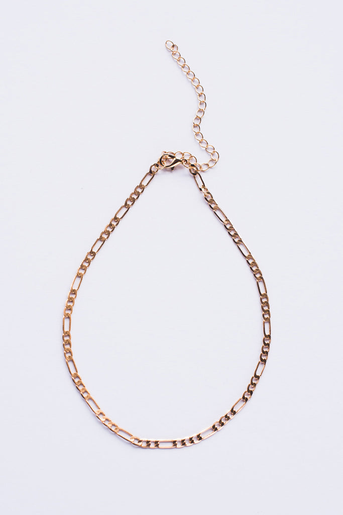 Fine Link Choker - Gold - Style Addict