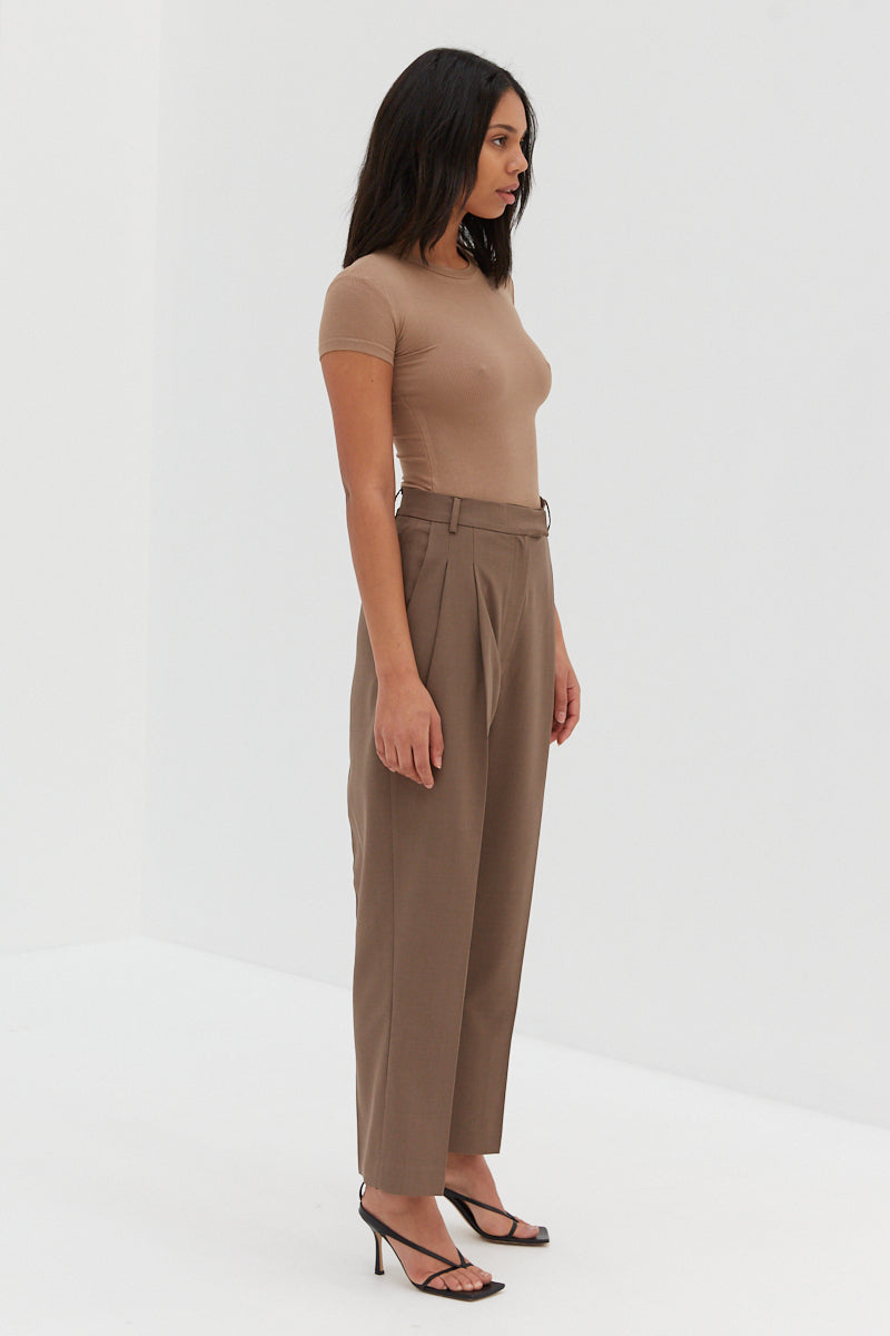 Baby Ribbed Top - Tan