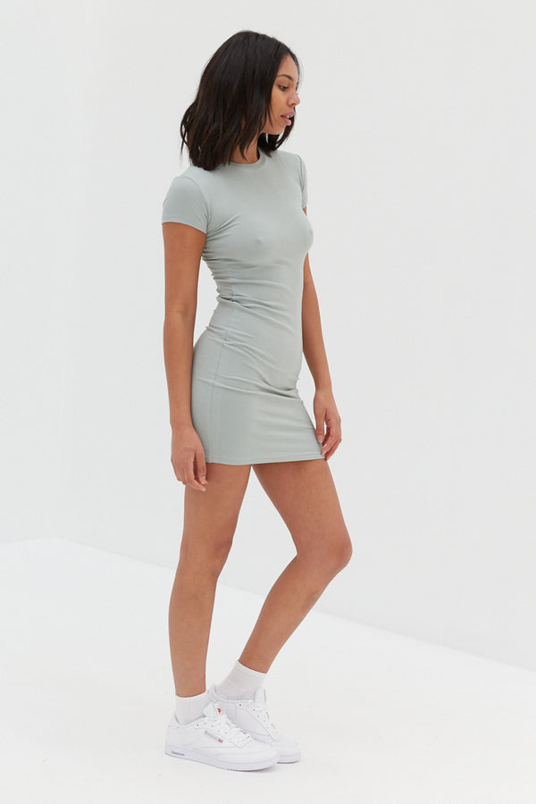 Baby Ribbed Dress - Seafoam