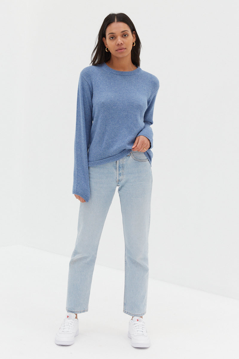 Christy Knit Jumper - Blue
