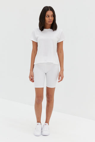 Crop Polo Top - White