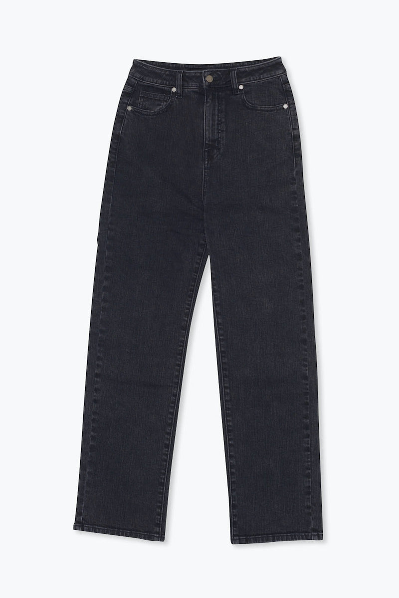 CORE High Rise Ankle Flare Jeans - Vintage Black