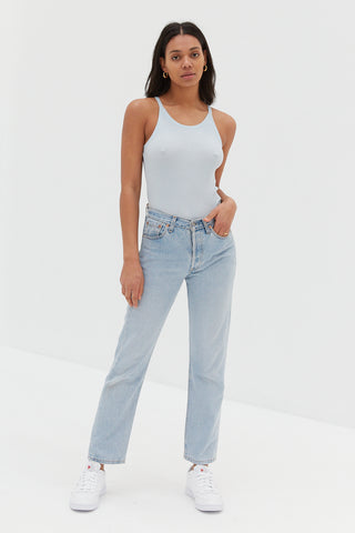 CORE High Rise Ankle Flare Jeans - True Blue / Sample