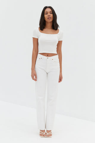 Flynn Top - White / OUTLET