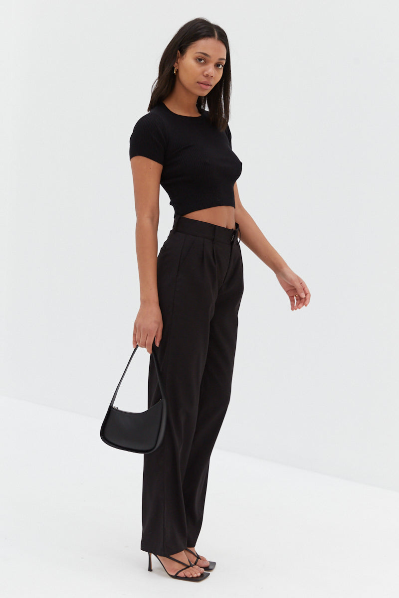 Wool Malene Pants - Black