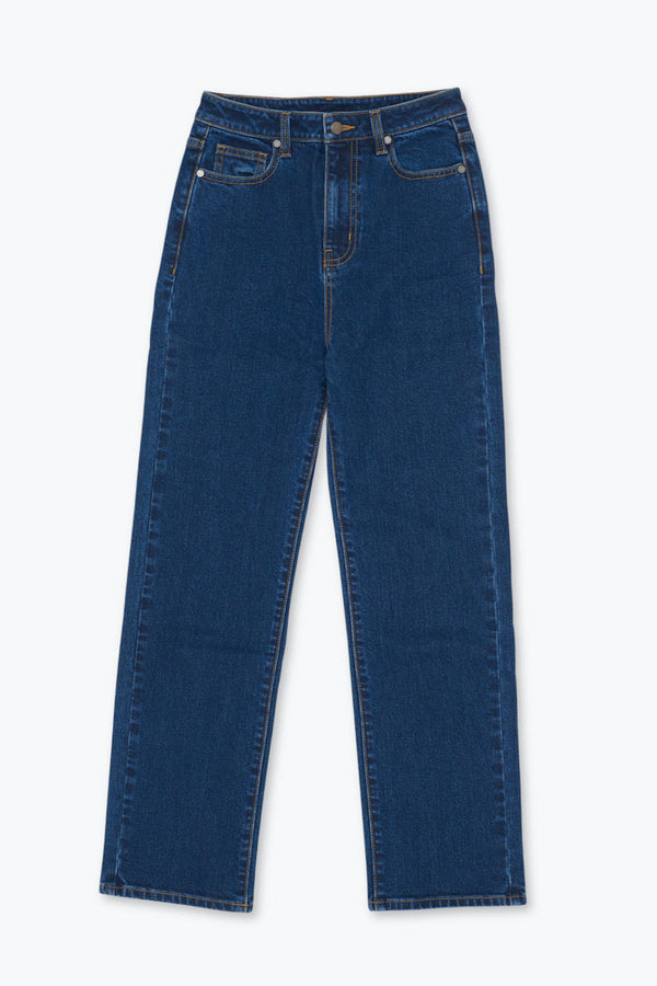 CORE High Rise Ankle Flare Jeans - Denim Indigo
