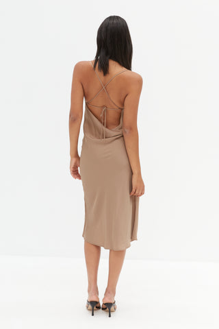 Knit Backless Dress - Grey