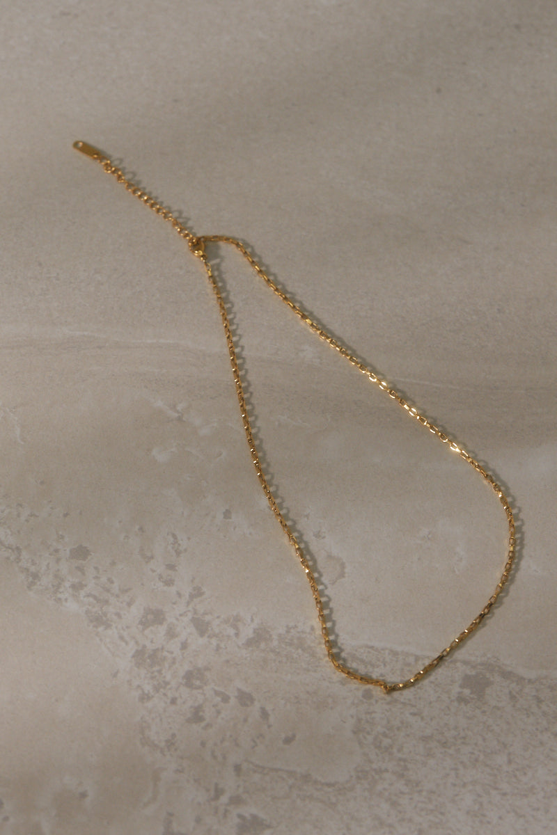Maya Chain Necklace - Gold Plated