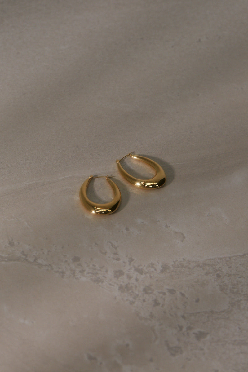Iris Hoop Earrings - Gold Plated