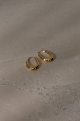 Small Auriel Hoop Earrings - Gold Plated