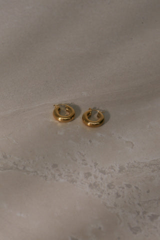 Cross Chain Earrings - Gold Plated