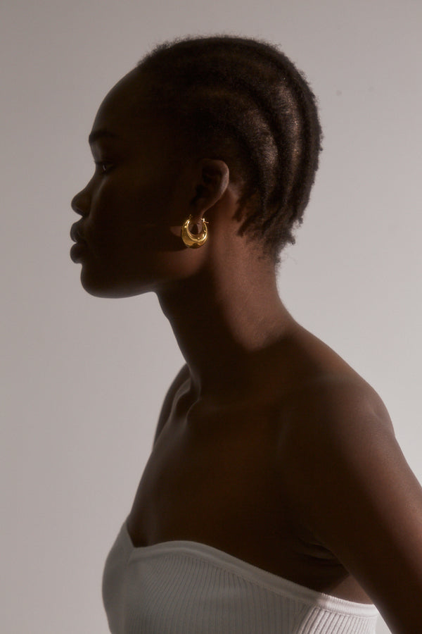 Bianca Hoop Earrings - Gold Plated