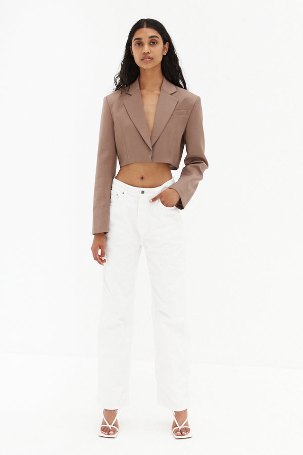 Mardi Crop Jacket - Mocha