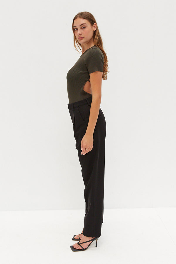 Asymmetrical Trousers - Black
