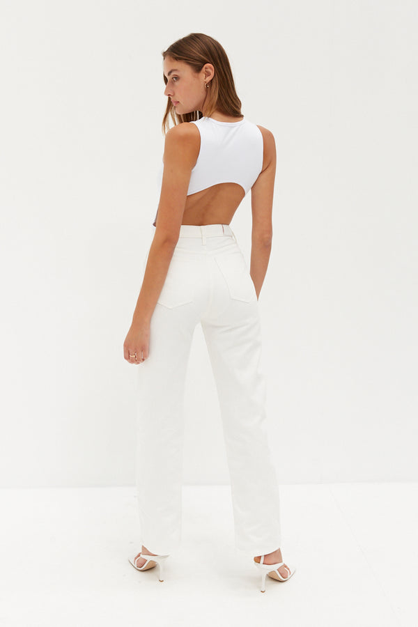 Sade Sleeveless Bodysuit - White