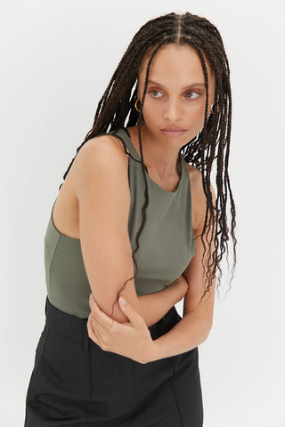 Palermo Halter Top - Natural