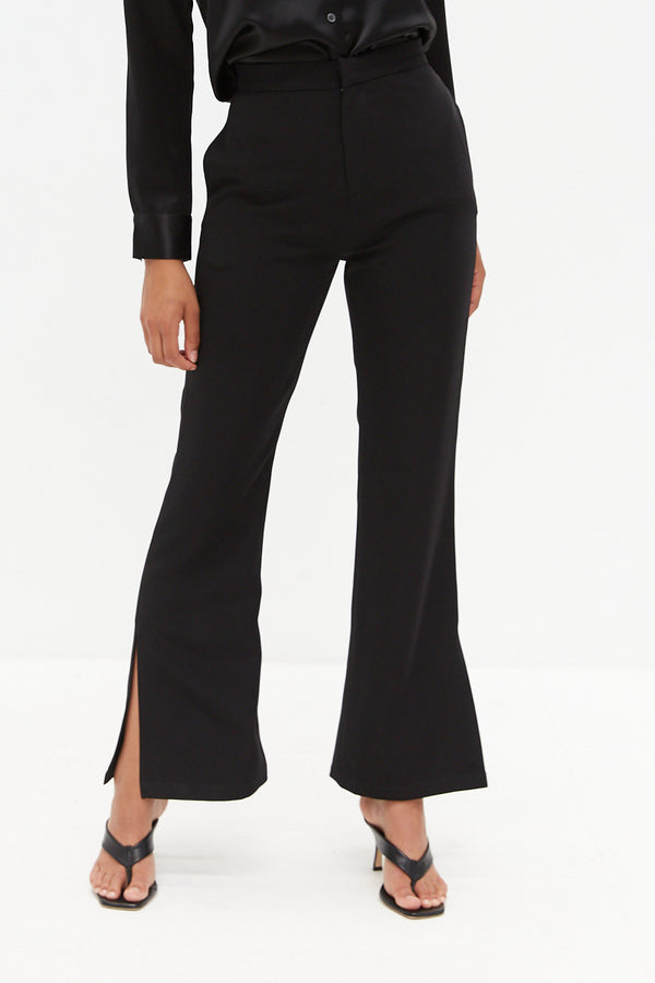 Side Split Pants - Black