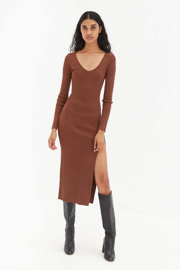 Sonya Dress - Chocolate