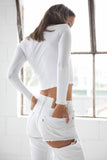 Long Sleeve Twink Top - White