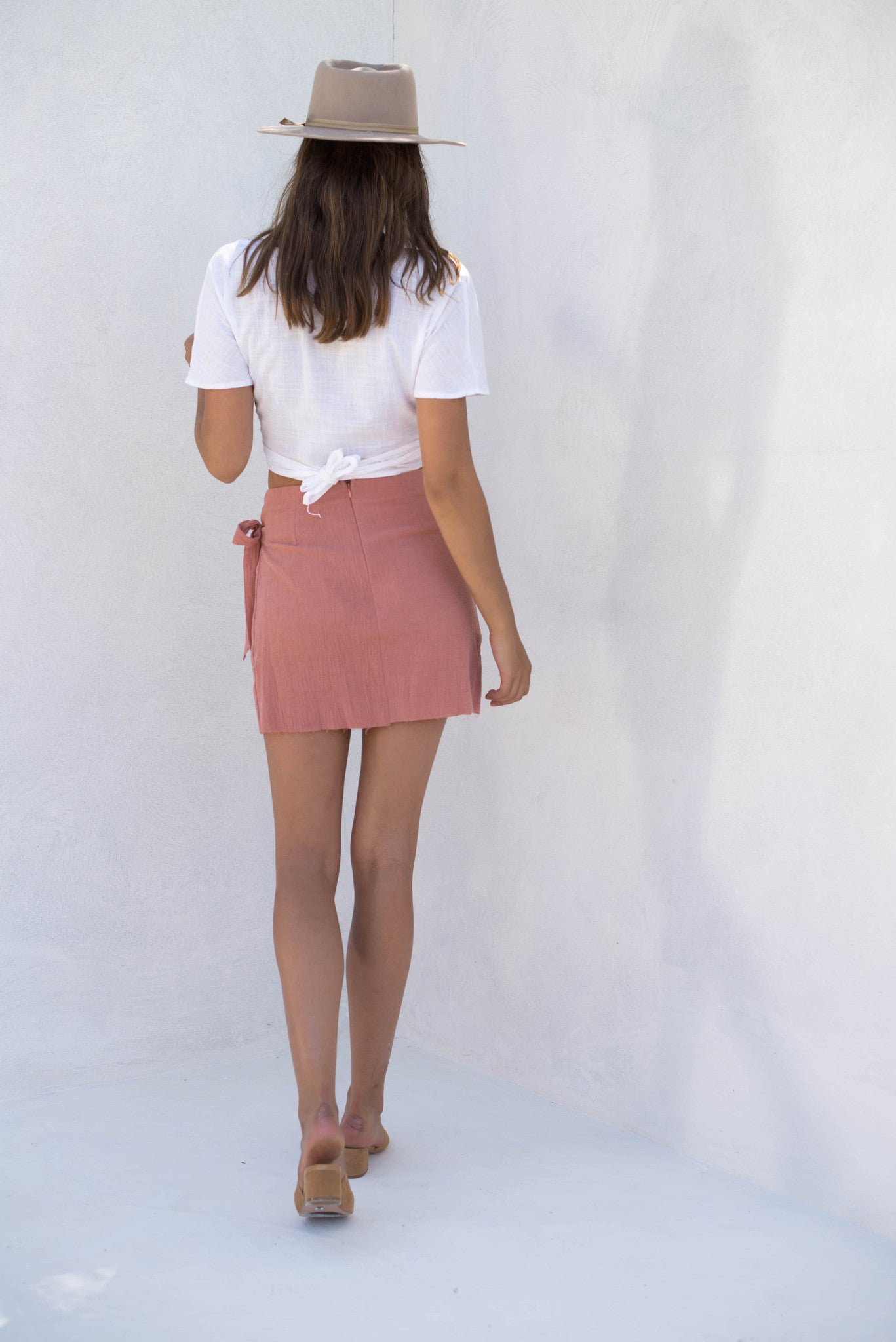 Celeste Skirt - Pale Peach