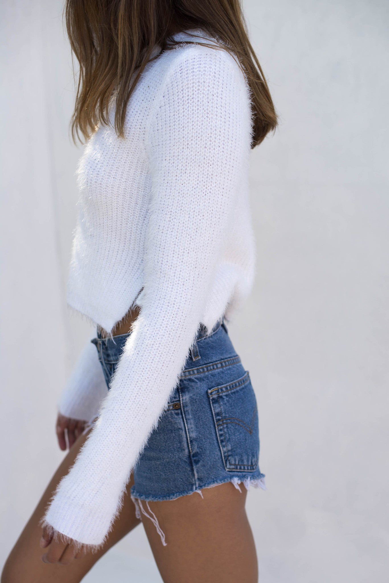 Freya Jumper - White