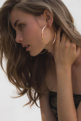 Salma Hoops - Rose Gold