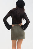 Noughts and Crosses Skirt - Khaki