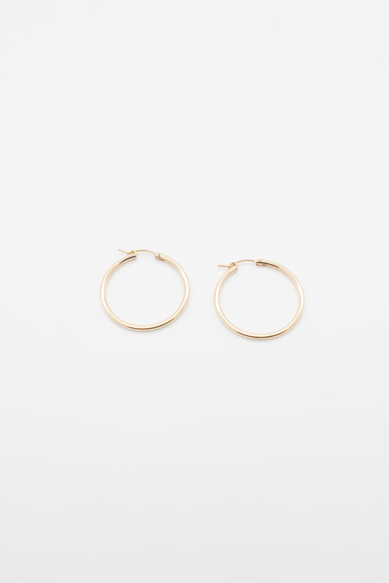 Medium Gold Hoops - 14K Gold - Style Addict