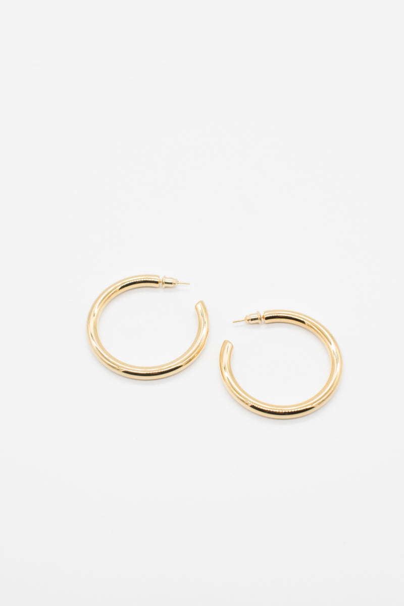 Large Alexandra Hoops - Gold - Style Addict