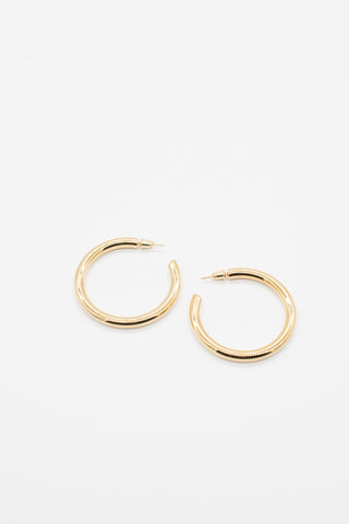 Thin Gold Hoops - 14K Gold