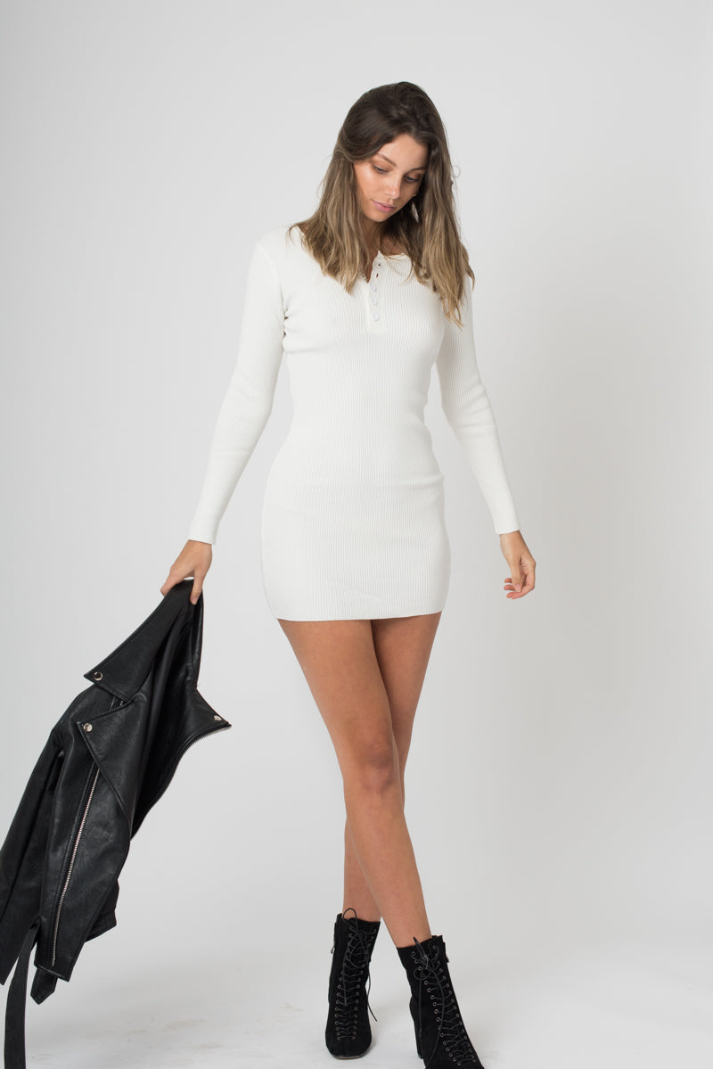 Lottie Dress - White - Style Addict