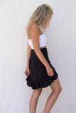Iris Wrap Skirt - Black